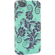 signature Back Case - Core Range - Apple iPhone 4/ 4S -Fleur de Lys Black & Green