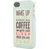 signature Back Case - Retro Range - Apple iPhone 4 /  4S -Coffee