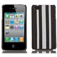 Skech Custom Jacket für iPhone 4, white stripes on brown