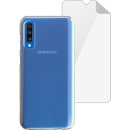 Skech Matrix SE Case + Displayschutzfolie  | Samsung Galaxy A70 | transparent | SKBD-A7018-MTS-CLR
