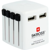 Skross Reiseadapter World USB Charger weiß