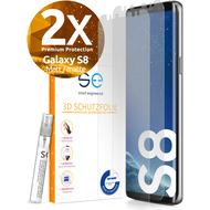 smart engineered [2x] 3D Schutzfolie Samsung Galaxy S8 Matt (entspiegelt) Front (Display) im SET inkl. Nano-Versiegelung