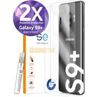 smart engineered [2x] 3D Schutzfolie Samsung Galaxy S9+ Transparent (Klar) Back (Rückseite) im SET inkl. Nano-Versiegelung