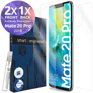 smart engineered 3D Schutzfolien für Huawei Mate 20 Pro, 2x Premium HD Displayschutzfolien, 1x Folie Rückseite [FULLBODY SET]
