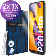 smart engineered 3D Schutzfolien für Huawei P20 Lite, 2x Premium HD Displayschutzfolien, 1x Folie Rückseite [FULLBODY SET]