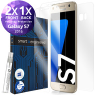 smart engineered 3D Schutzfolien für Samsung Galaxy S7, 2x Premium HD Displayschutzfolien, 1x Folie Rückseite [FULLBODY SET]