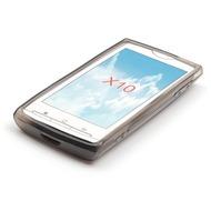 Silikon-Schutzhülle für Sony Ericsson X10, schwarz-transparent