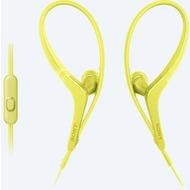 Sony MDR-AS410AP spritzwassergeschützter In-Ohr Sportkopfhörer, gelb