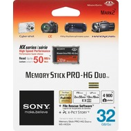 Sony Memory Stick PRO-HG Duo HX 32GB inkl. File Rescue/ X-Pict Story Software, Retail-Blister