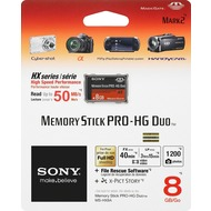 Sony Memory Stick PRO-HG Duo HX  8GB inkl. File Rescue/ X-Pict Story Software, Retail-Blister