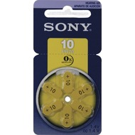Sony PR10D6N   Hörgeräte-Batterie 6 Stück (Revolver-pack MERCURY-FREE)
