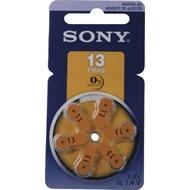 Sony PR13D6N    Hörgeräte-Batterie 6 Stück (Revolver-pack MERCURY-FREE)