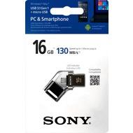 Sony USB 3.0 OTG Stick 16GB - Micro USB - schwarz MicroVault SA3 - LED Anzeige