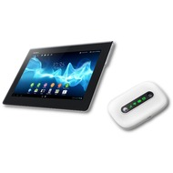 Sony Xperia Tablet S 16GB (WLAN), schwarz + Huawei E5331 UMTS-WLAN-Router Wireless Hotspot, wei�