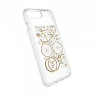 Speck HardCase Speck PRESIDIO iPhone (8) Plus Clear/ Print - CityBike Metallic Gold Yellow/ Clear