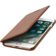 Stilgut Book Type Case ohne Clip  für iPhone 7 Plus /  iPhone 8 Plus, cognac