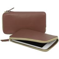 Stilgut Handytasche aus Leder für 5.7 Zoll Smartphones, cognac