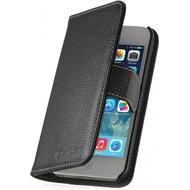Stilgut Talis BookCover V2 für Apple iPhone 5/ 5S/ SE Echtleder, schwarz