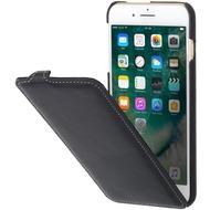 Stilgut UltraSlim Case Nappa für Apple iPhone 7 Plus /  iPhone 8 Plus, schwarz