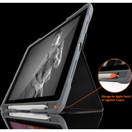 STM Dux Plus DUO Case, Apple iPad 10,2 (2019), schwarz/ transparent, STM-222-236JU-01