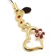 Stylebazar Golden-Heart-n-Flower-Rubin