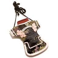 Stylebazar Kimono Bag /  Chinese Bag Black n Rose