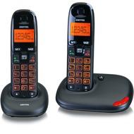Switel Vita DC5002, schnurloses DECT-Telefon-Set, schwarz