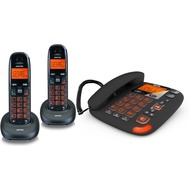 Switel Vita DCT50073C, schnurlose DECT-Telefon-Combo mit Anrufbeantworter, schwarz