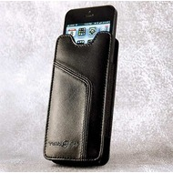 Ten 97 Ten97 Leather Pouch, iPhone 5/ 5C/ 5S & 4 Echt Leder Tasche, schwarz