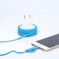 "Thumbs Up 2in1 Ladekabel ""Yo-Yo"" (EU-Stecker) - iPhone 5/ 6 and Micro USB"