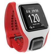 TomTom MULTISPORT Cardio GPS Uhr, weiss/ rot