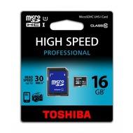 Toshiba Micro-SD Card 16GB Toshiba SDHC UHS-I mit Adapter C10