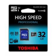 Toshiba Micro-SD Card 32GB Toshiba SDHC UHS-I mit Adapter C10