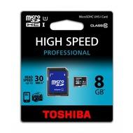 Toshiba Micro-SD Card 8GB Toshiba SDHC UHS-I mit Adapter C10