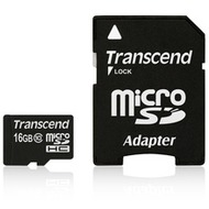 Transcend 16 GB microSDHC-Karte Class10