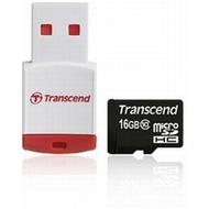 Transcend microSDHC Class 10, 16GB + P3 Kartenlesegerät