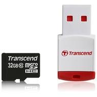 Transcend microSDHC Class 10, 32GB + P3 Kartenlesegerät