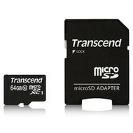 Transcend 64GB microSDXC Class 10 + SD-Adapter