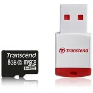 Transcend microSDHC Class 10, 8GB + P3 Kartenlesegerät