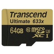 Transcend microSDXC/ SDHC Class 10 UHS-I U3 633x Ultimate 64GB