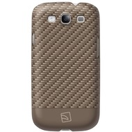 Tucano CARBON COLOR for Samsung Galaxy S3, Light Brown