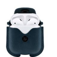 twelve south AirSnap - Leder Etui für Apple Airpods, dunkelgrün (deep teal)