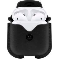 twelve south AirSnap - Leder Etui für Apple Airpods, schwarz
