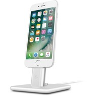 twelve south HiRise Deluxe 2 Desktop Stand inkl. Lighting und Micro-USB-Kabel for iPhone, Smartphones, silver