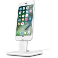 twelve south HiRise Deluxe 2 Desktop Stand inkl. Lighting und Micro-USB-Kabel for iPhone, Smartphones, white