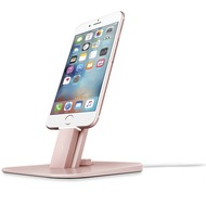 twelve south HiRise Deluxe Desktop Stand inkl. Lighting-Kabel und Micro-USB-Kabel for iPhone, Smartphones, iPad mini, iPod touch, Apple TV Remote, roségold