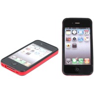 Twins 2Color Bumper für iPhone 4/ 4S, schwarz-rot