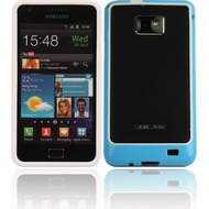 Twins 2Color Bumper f�r Samsung i9100 Galaxy S2, wei�-blau
