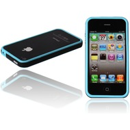 Twins 2Color Bumper f�r iPhone 4, blau-schwarz