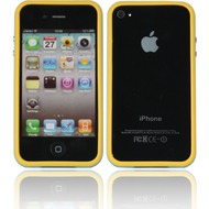 Twins 2Color Bumper f�r iPhone 4/ 4S, gelb-schwedenblau